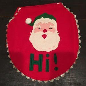 Handmade Christmas toilet seat cover
